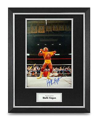 Hulk Hogan Signed Photo Framed 16x12 WWE WWF Autograph Memorabilia Display