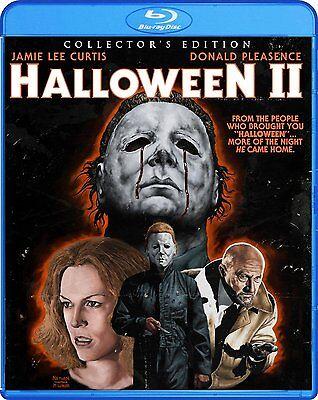 HALLOWEEN II 2 Blu-ray Collector's Edition Film Horror Jamie Lee Scary Donald TV](Halloween Ii Tv Version Dvd)