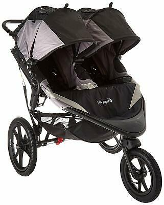 Baby Jogger Summit X3 Double Stroller - Black Grey, NEW
