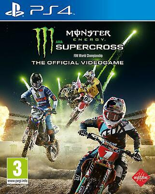 Monster Energy Supercross - The Official Videogame For PS4 (New & Sealed)