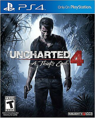 Uncharted 4 PS4: A Thief's End - Sony PlayStation 4 BRAND NEW SEALED