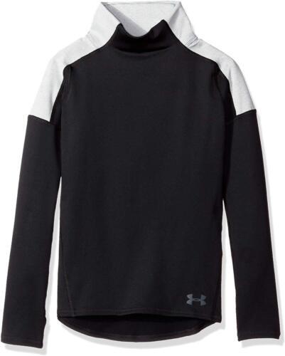NWT UNDER ARMOUR Girls ColdGear Cozy Long Sleeve Shirt Black/Grey Size L (14-16)