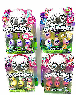 Hatchimal Colleggtibles - (1) Four Pack + Bonus from Seasons 1 - 2 - 3 & 4