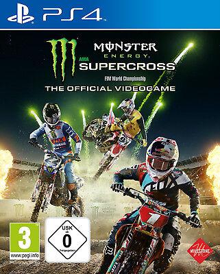 PS4 Monster Energy Supercross The Offcial Videogame NEU&OVP Playstation 4 Monster Super Video