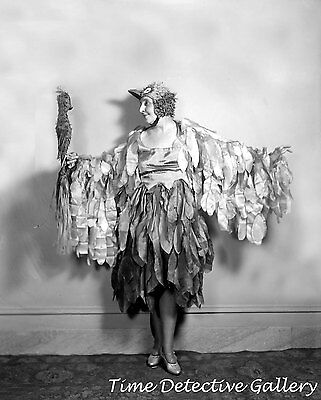 Woman Dressed in Ridiculous Halloween Bird Costume - 1920s -Historic Photo Print