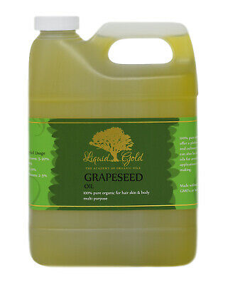 32 oz Premium Grapeseed Oil Pure Organic Unrefined Fresh Best Quality Skin Care (Best Organic Grapeseed Oil For Skin)