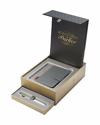 Parker Sonnet British Collection Fountain Pen 18Kt Gold M Pt & Notebook 1978406