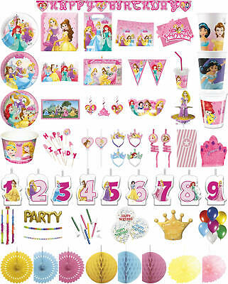Kinder-Geburtstag Party Deko Feier Motto Disney Princess Dreaming