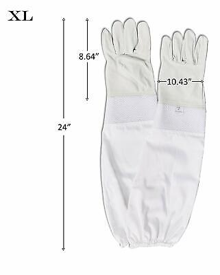 Beeper Beekeeping Premium Goatskin Leather Beekeepers Gloves Xl