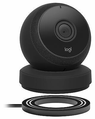 Logitech Circle Black Portable Wi-Fi Video Monitoring Camera Webcam