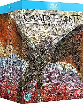Game of Thrones: The Complete Seasons 1-6 Blu-ray Disc 2016 Box Set ! Brand New!