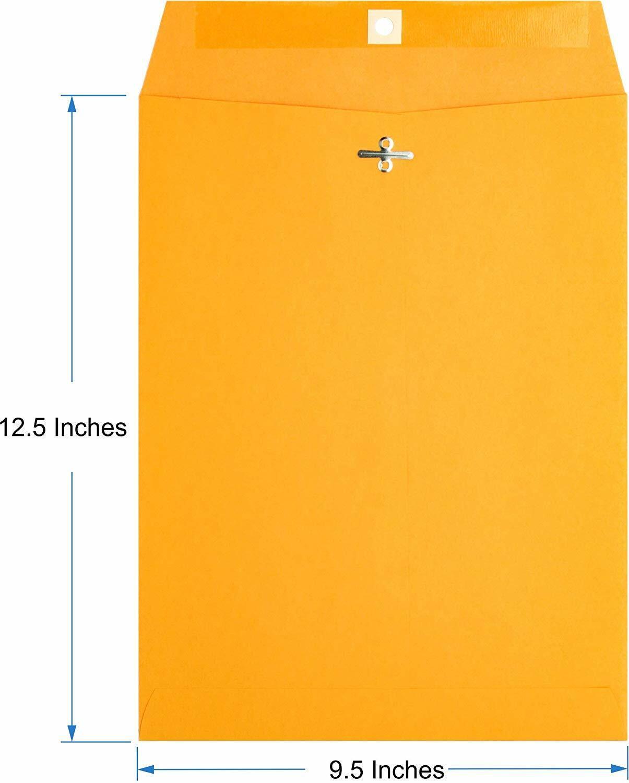 Brown Kraft Catalog Clasp Envelopes, Gummed Seal, 10 x 15, 2