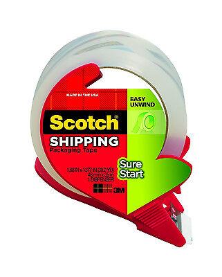 NIB! 6 ROLLS Scotch Packing Tape w/ Dispenser 1.88in x 38.2Yards Clear 3450S-RD