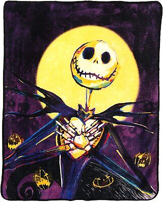 Disney Nightmare Before Christmas Pumpkin Delight Throw Micro Raschel Blanket