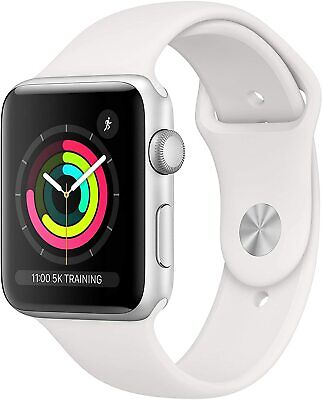 Apple Watch Series 3 (GPS, 42mm) - Silver Aluminum Case with White Sport ML4406
