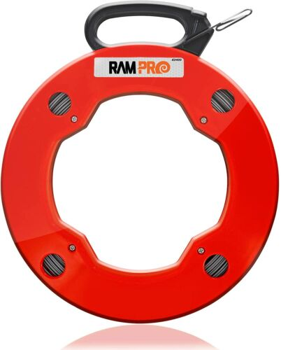 200 Foot Reach, Spring-Steel Fish Tape Reel, with High Impact Case
