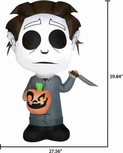 5 Ft Tall MICHAEL MYERS Gemmy Halloween Air blown Inflatable Free Shipping