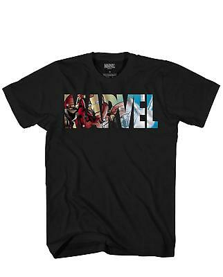 Marvel Logo Ironman Iron Man Avengers Super Hero Adult Men's Graphic T-Shirt Tee
