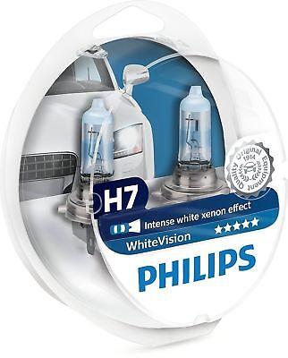Philips H7 WhiteVision Halogen - Scheinwerferlampen Weiß Lampe SET segunda mano  Embacar hacia Argentina
