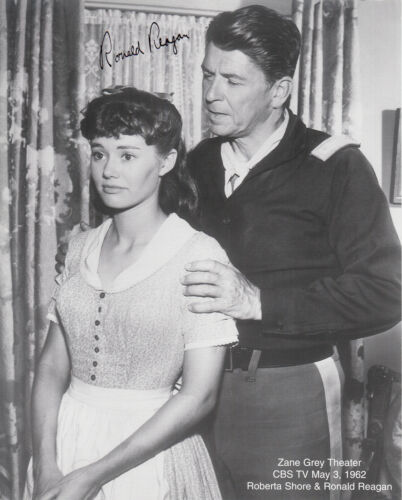 Ronald Reagan  Autographed with Roberta Shore   Zane Grey Theater 1962