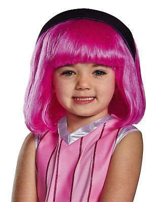 Disguise Stephanie Lazy Town Cartoon Network Pink Wig - One Child Size (Disguise Wig)