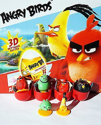 6psc angry birds From Kinder Surprise in shells Eggs Party FavorToy Filled Easte