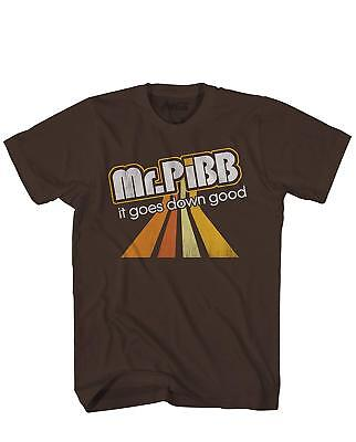 Pop Drink (Mr. Pibb Soda Pop Drink Classic Retro Funny Logo Men's Adult Graphic Tee)