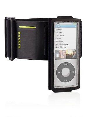 BELKIN Black Sport Armband Gym Case for iPod Nano 5th Gen w/ Fastfit F8Z516 NEW