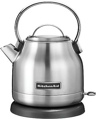 KitchenAid Brushed Stainless Steel Electric Kettle- 5 Cup 1.25-Liter- KEK1222SX
