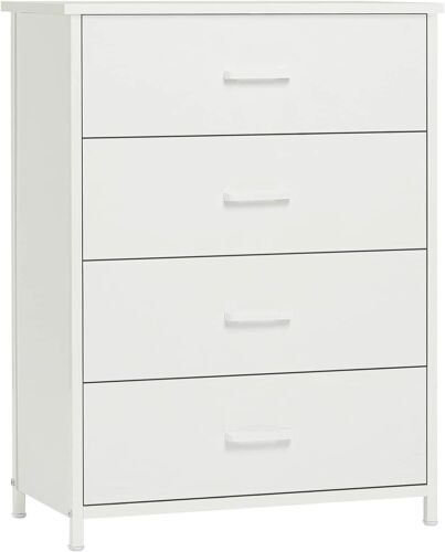 Chest Of Dresser W/4 Drawers Large Storage Cabinet Clothes Organizer For Bedroom