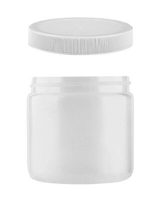 New 18 Wide Mouth 16 Oz Food Safe Jars With Pressure Seal Lid Hdpe Plastic