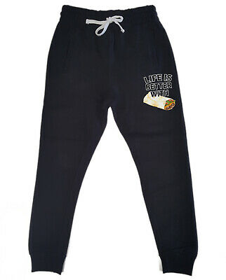 Men's Life Is Better W/Burrito KT T136 Jogger pants sweatpants Fitted Funny