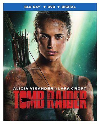 Tomb Raider (Blu-Ray + DVD + Digital) 2018 w/ SLIP COVER ***FREE SHIPPING**