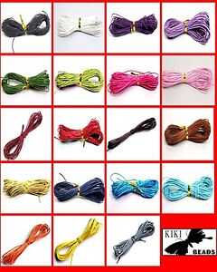10-or-30-Mtrs-1mm-or-1-5mm-Waxed-Cotton-Cords-FREE-UK-Postage