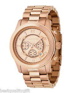 MICHAEL-KORS-ROSE-GOLD-TONE-OVERSIZE-RUNWAY-CHRONOGRAPH-WATCH-MK8096-NEW-BOX