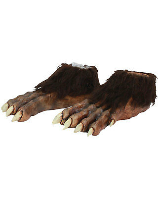 Morris Costumes Wolf Latex Wolf Motif With Fur Deluxe Feet One Size. - Wolf Feet