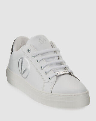 $399 Valentino Women's White Petra Low-Top Lace-Up Sneakers Shoes Size 38/US 8