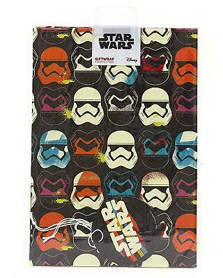 STAR WARS 2 SHEETS OF GIFT WRAP AND 2 GIFT TAGS STORMTROOPER NEW