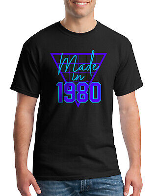 40th Birthday Party Ideas For Men (Made In 1980 Men's T-Shirt 40th Birthday Party Gift)