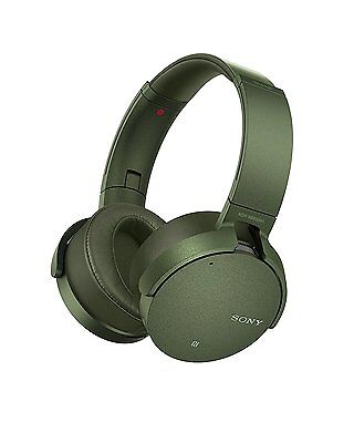 Sony MDR-XB950N1 Wireless Noise Cancelling Extrabass On-Ear Headphones - Green