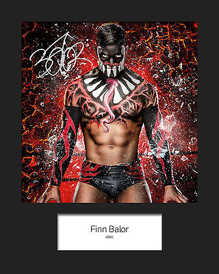 FINN BALOR #1 (WWE) Signed (Reprint) 10x8 Mounted Photo Print - FREE DELIVERY