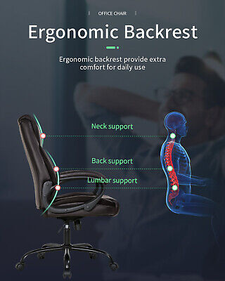 Office Chair Ergonomic Desk Chair Computer Chair with Lumbar Support Arms Business & Industrial