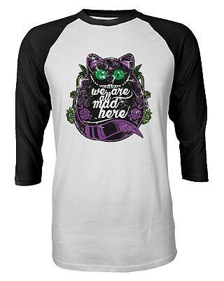 Cheshire Cat Shirt Wonderland Halloween Funny Quarter Sleeve Men's T-Shirt (Cheshire Cat Halloween Man)