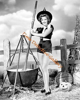 Martha Vickers - Halloween Pin-up Girl - 1945 - Vintage Photo Print - Halloween Pin Up Girl Photos