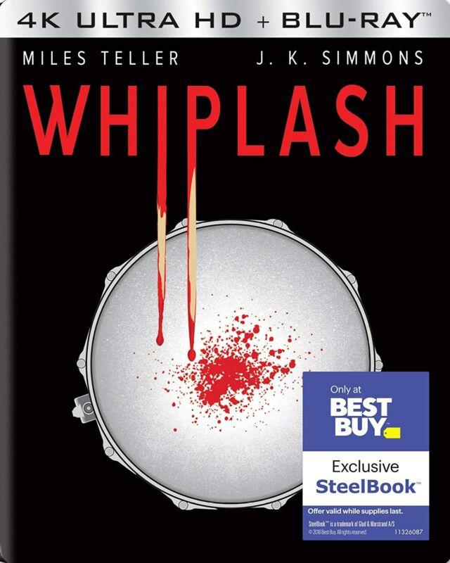New Steelbook Whiplash (4K / Blu-ray & Digital)