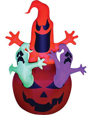Airblown Pumpkin Neon Halloween Inflatables Haunted House Decorations & Props - Airblown Halloween Inflatables
