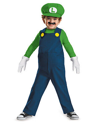 Morris Costumes Toddler Luigi Jumpsuit Costume 3T-4T. - Luigi Toddler Costume