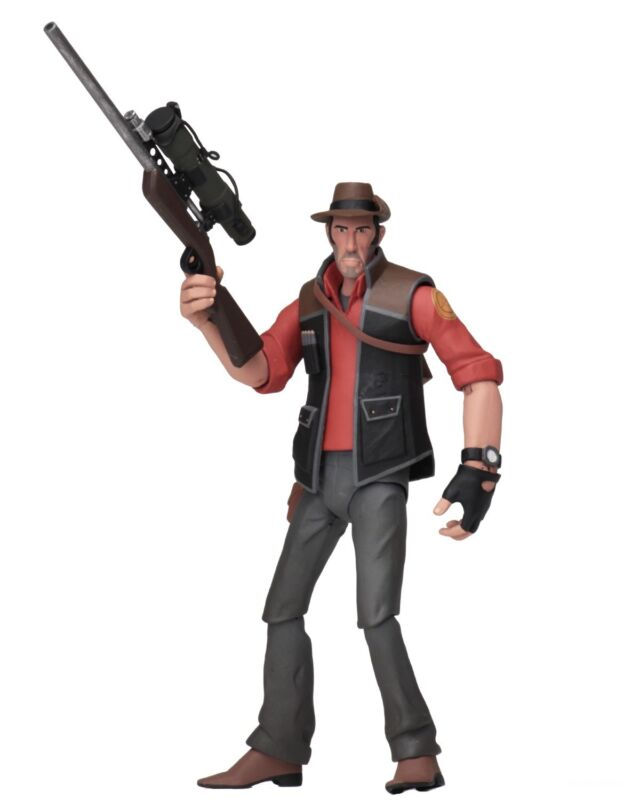 "Team Fortress 2 - 7"" Scale Action Figures - Series 4 Red - Sniper - Neca"