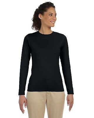 Gildan Ladies' Softstyle 4.5 oz. Long Sleeve T-Shirt G644L 100% Cotton