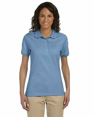 Jerzees Women Polo Shirt Short Sleeve Solid Small Light Blue Ladies Short Sleeve Polo Shirt